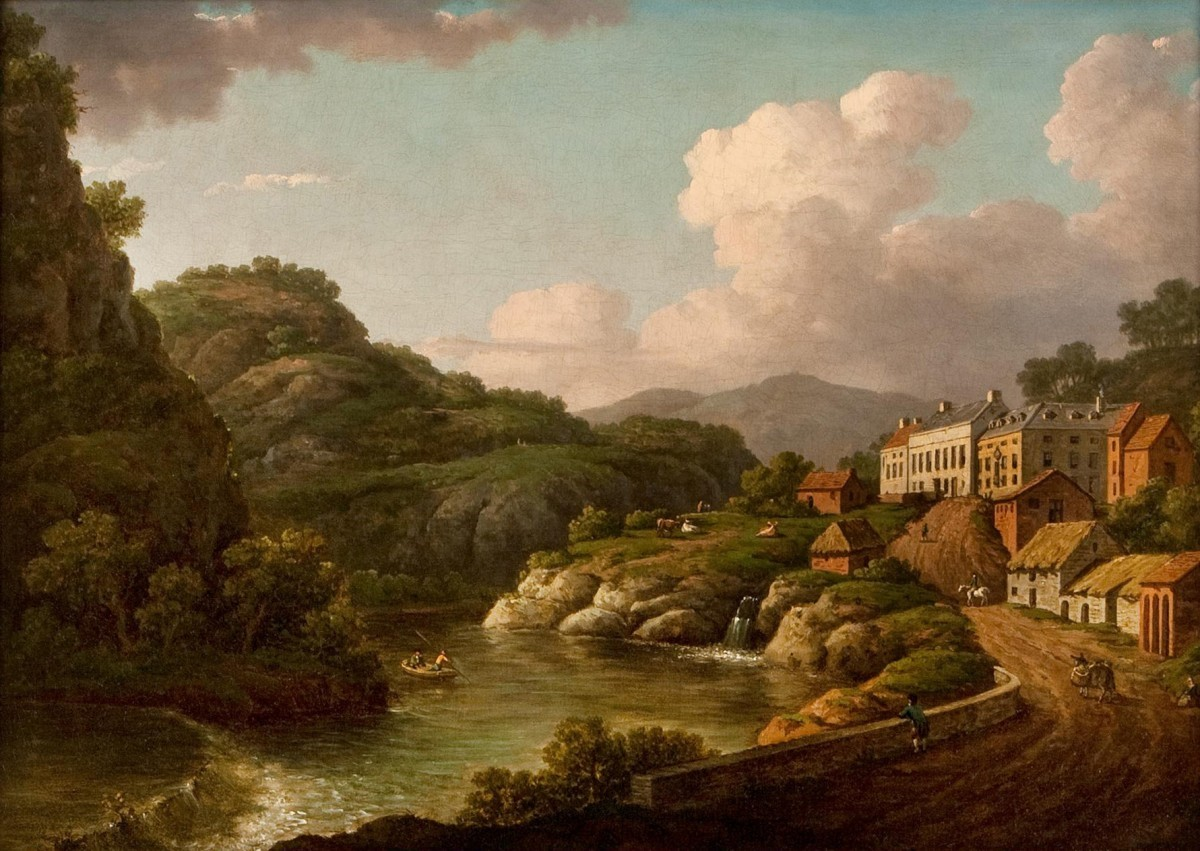 View of Matlock, Derbyshire, William Marlow (1740–1813)