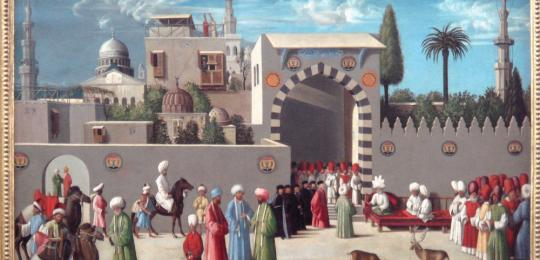 Venetian embassy to the Mamluks in Damascus in 1511, workshop of Giovanni Bellini