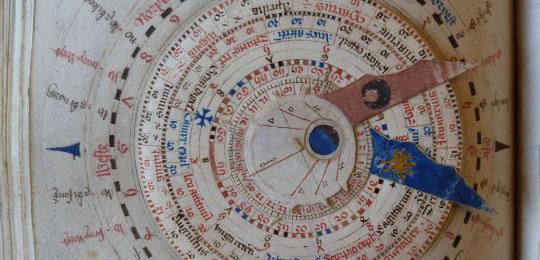 A 'volvelle', a paper tool for working out astrological alignments
