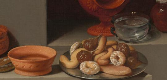 Still Life with Sweets and pottery (detail)