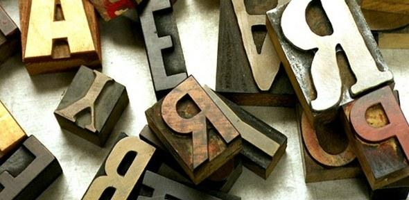 letters on a table